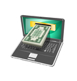 computer money vector image