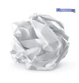 crumpled paper ball 3d realistic icon