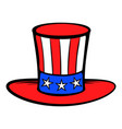 cylinder in the usa flag colors icon cartoon vector image