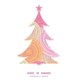 doodle circle texture Christmas tree silhouette vector image vector image
