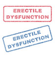 erectile dysfunction textile stamps vector image