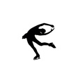 figure skating individual silhouettes vector image vector image