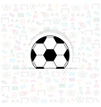 football icons of soccer background eps10 vector image vector image