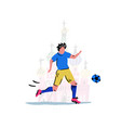 football player with ball vector image