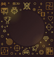 gamer concept golden outline frame or vector image