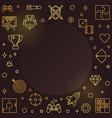 gamer concept golden outline frame vector image