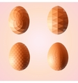 Geometric shape set of egg Easter egg triangular vector image vector image