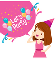 Girl Shouting With Speech Bubble Decoration vector image