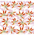 gloriosa seamless pattern camo white pink vector image vector image