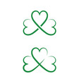 green clover leaf icon template vector image vector image