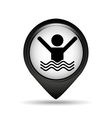 guy swimming icon vector image vector image