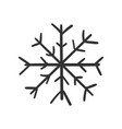 hand drawn snowflake icon snow flake sketch vector image vector image