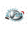 happy new year 2020 and rugball vector image vector image