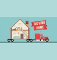 house moving service banner vector image vector image