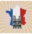 Icon design of France vector image vector image