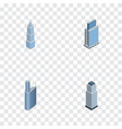 isometric skyscraper set of building exterior vector image vector image