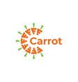 letter c carrot logo design inspiration vector image