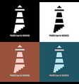 lighthouse logo pharos for business vector image vector image
