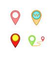 map pin icon set cartoon style vector image vector image