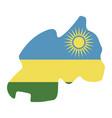 map rwanda - flag vector image vector image