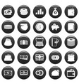 money icons set vetor black vector image vector image