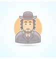 Native orthodox Jewish man icon vector image vector image