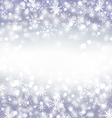 Navidad purple background with snowflakes and copy vector image vector image