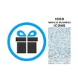 Present Rounded Icon with 1000 Bonus Icons vector image vector image