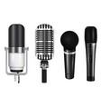 professional microphones realistic set vector image