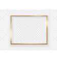 realistic gold horizontal shining photoframe on a vector image