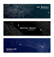 realistic spider web cobweb banners vector image