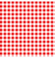 red and white gingham tablecloth seamless pattern vector image vector image