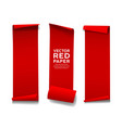 red paper roll long size vertical collecti vector image vector image
