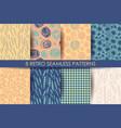 retro different seamless patterns
