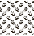 Seamless pattern with black owls