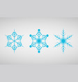 set of icons snowflakes vector image