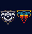 skull evil retro vector image vector image