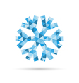 Snowflake New Year and Christmas icon of blue vector image