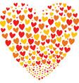 stvalentine greeting card hearts logo vector image vector image