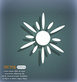 Sun icon On the blue-green abstract background vector image