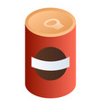 tomato can icon isometric style vector image