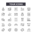 tour line icons for web and mobile design vector image vector image