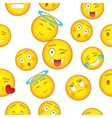 Types of emoticons pattern cartoon style vector image vector image