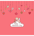 valentine card cupid vector image vector image