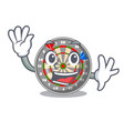 waving dartboard in the shape of mascot vector image vector image