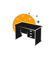 work table furniture logo vector image