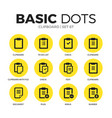 clipboard flat icons set vector image
