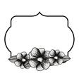 elegant frame with floral decoration vector image