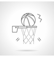 Basketball shot flat line design icon vector image