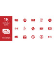 15 transfer icons vector image vector image